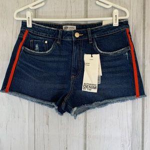 Zara Authentic Denim By TRF Cut-Off Short Size 8